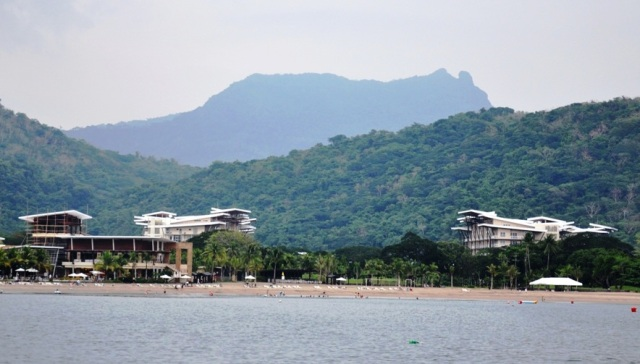 Pico de Loro Cove.  In the background is Mt Pico de Loro